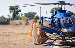 helicopter for marriage